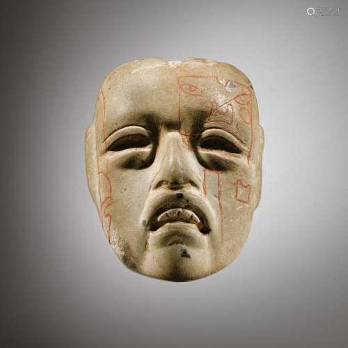 Masquette en pierre<br />Culture Olmèque<br />Préclassique Moyen 900-600 AV. J.-C.