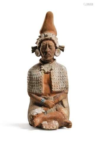 Statue d'un dignitaire assis<br />Culture Maya, Jaina<br />Classique Récent, 550-950 AP. J.-C.