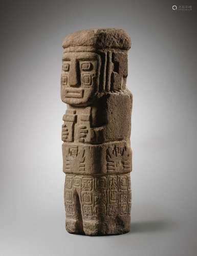 Statue en pierre<br />Culture Tiwanaku, Hauts plateaux<br />300-700 AP. J.-C.