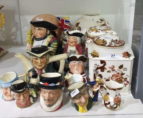 Royal Doulton pottery character jug