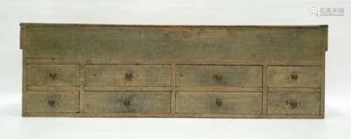 Pine chestwith lift top above eight assorted drawers