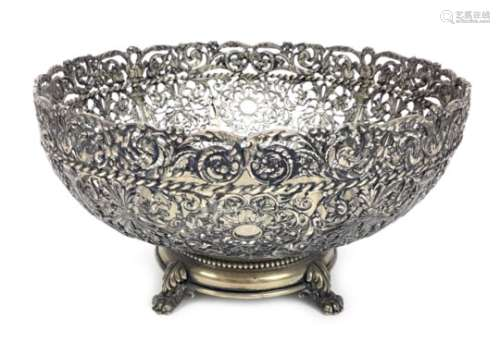 A CONTINENTAL SILVER BOWL