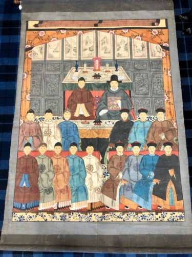 A LARGE CHINESE ANCESTOR PAINTING