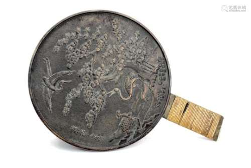 A PAIR OF EARLY/MID 20TH CENTURY CHINESE HAND MIRRORS
