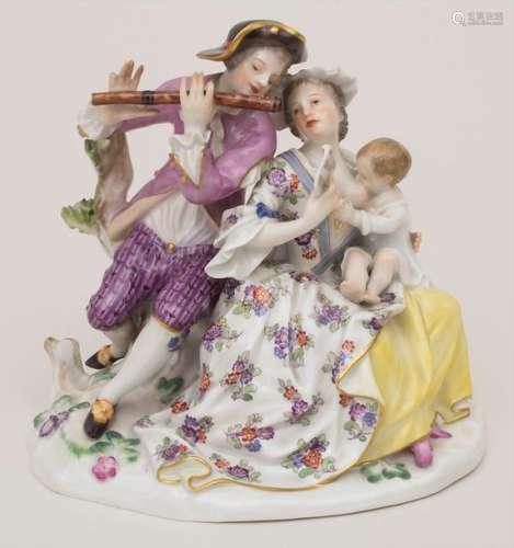 Figurengruppe einer galanten Famile / A figural gr…