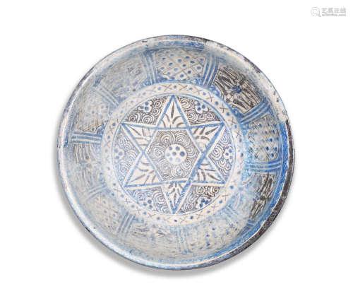A Mamluk underglaze-painted pottery bowl Syria, 14th Century