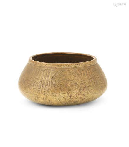 A Fars brass bowl Persia, 14th Century