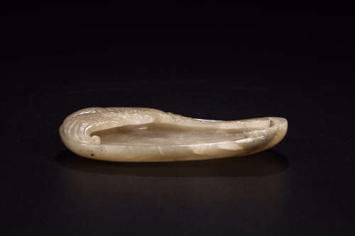 HETIAN JADE PEN WASHER WITH DRAGON PATTERN