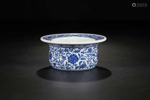 QIANLONG MARK BLUE WHITE PEN WASHER