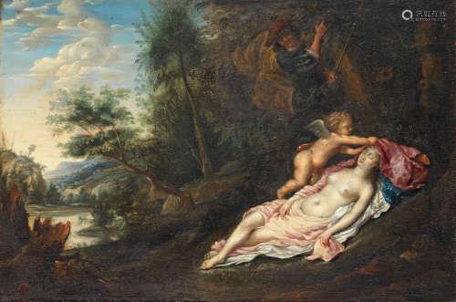 Follower of Hendrick  van Balen(Antwerp 1575-1632) Cimon and Iphigenia