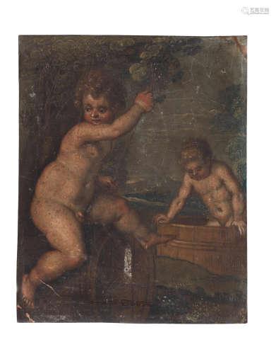 Circle of Pieter van  Avont(Malines 1600-1652) An Allegory of Spring; An Allegory of Summer; and An Allegory of Autumn unframed (3)