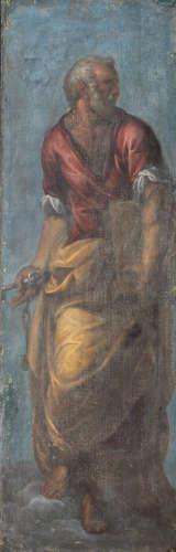 Circle of Ippolito Scarsella, called Scarsellino(Ferrara(?) 1550-1620) Saint Peter unframed