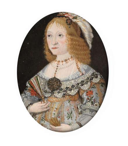 German School17th Century Portrait of Agnes Elizabeth Grafin du Stolberg (1600 – 1651)