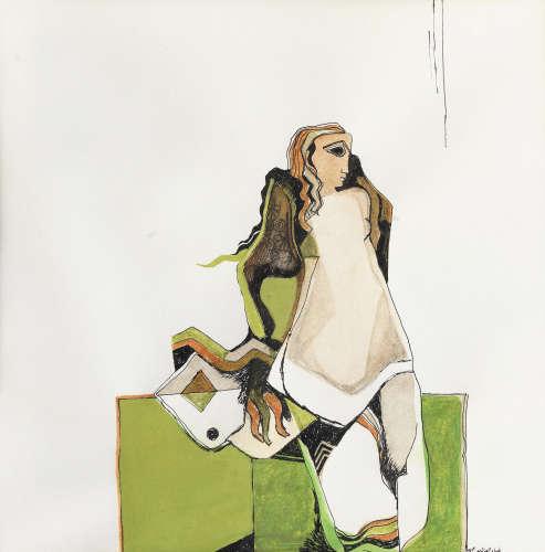 Drawings Consecrated to Love: Waddah al-Yaman I Dia Azzawi(Iraq, born 1939)