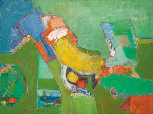 Green Composition Abdullah Murad(Syria, born 1944)