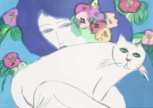 Walasse TING (1929 2010), d'après \nFemme au chat b…