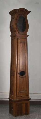 Caisse d'horloge de parquet en noyer XIXe siècle H…