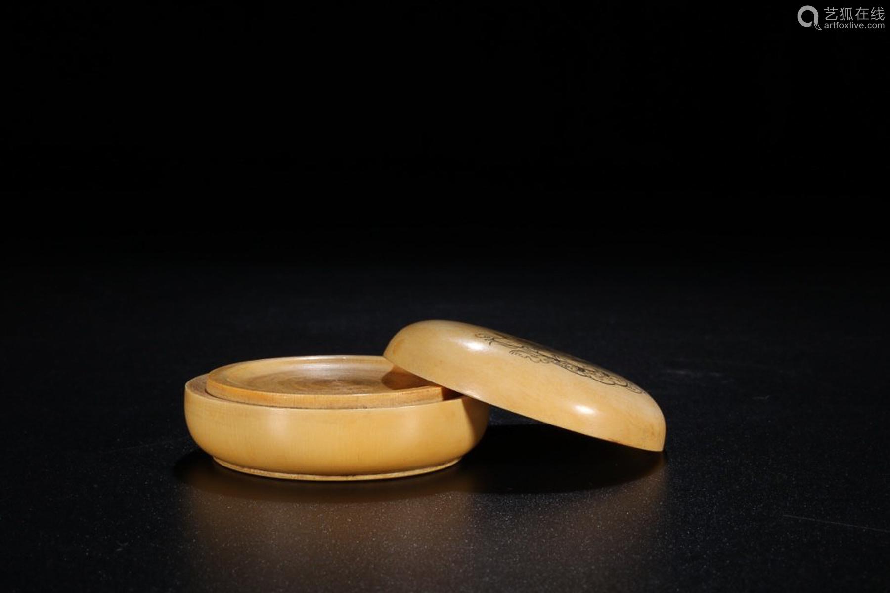 QIANLONG MARK RARE MATERIAL GUANYIN CAPPING BOX