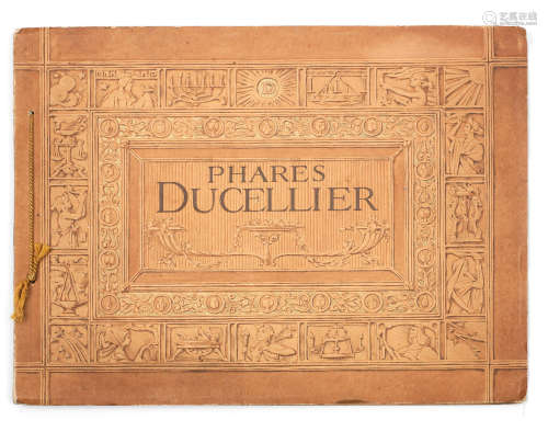 A French sales brochure for 'Phares Ducellier' lamps, Album No.10, circa 1909,