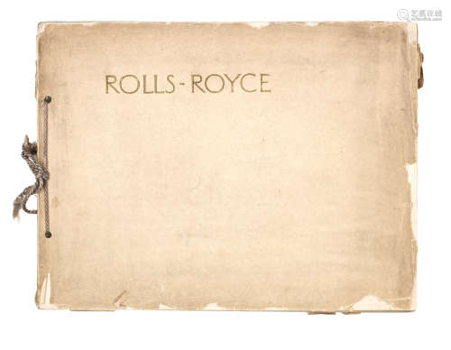 A Rolls-Royce sales catalogue for 40/50Hp Six Cylinder models, January 1914,