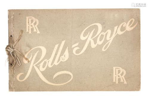 A Rolls-Royce Cars sales brochure, 1906,