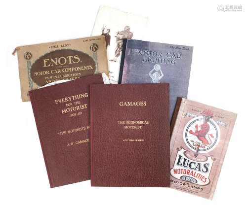 Various sales literature for early motoring accessories,