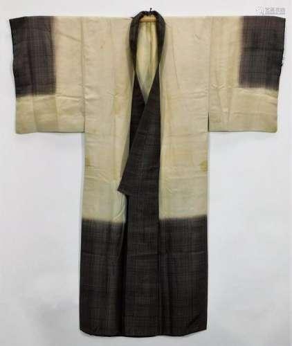 Meiji Period Men's Hand Painted Woman Kimono