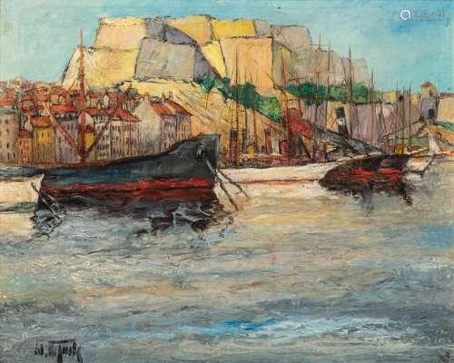 Estelle JUSTE (1894 1962) \nMARSEILLE \nHuile sur pa…