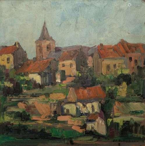 Edmond de MEULENAERE (1884 1963) \nVUE DE VILLAGE \n…