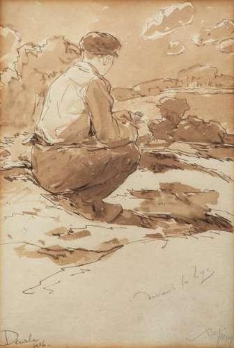 A. MERY (XXe siècle) \nDEVANT LA LYS DÉCEMBRE 1916 …