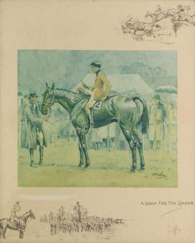 Charlie Johnson Payne, 'Snaffles'(British, 1884-1967) A Bona Fide Fox Chaser