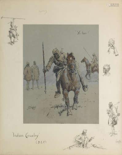 Charlie Johnson Payne, 'Snaffles'(British, 1884-1967) Indian Cavalry (B.E.F)