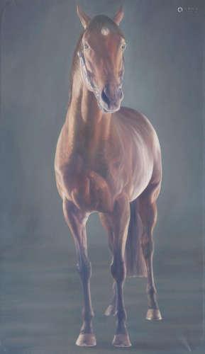 Alan Brassington(British, born 1959) Motivator - Racehorse Front Portrait