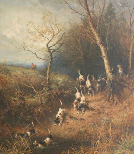 Myles Birket Foster, RWS(British 1825-1899) On the Scent signed with monogram 'BF' (lower right), oil on canvas,