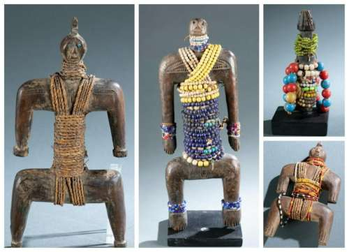 4 West African Figures. 20th c.