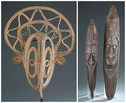 3 Melanesian Masks. 20th c.