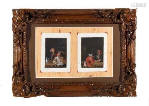 Ecole hollandaise XVIIIe. Trompe l'oeil à décor de…