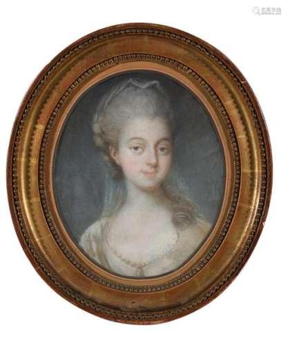 Ecole française XVIIIe. Portrait présumé de Mademo…