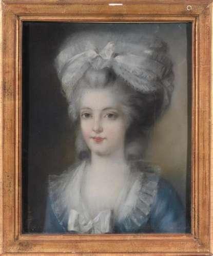 Ecole française fin XVIIIe. Portrait présumé de la…