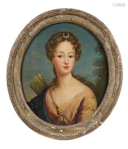 Ecole française fin XVIIIe. Diane chasseresse. Hui…