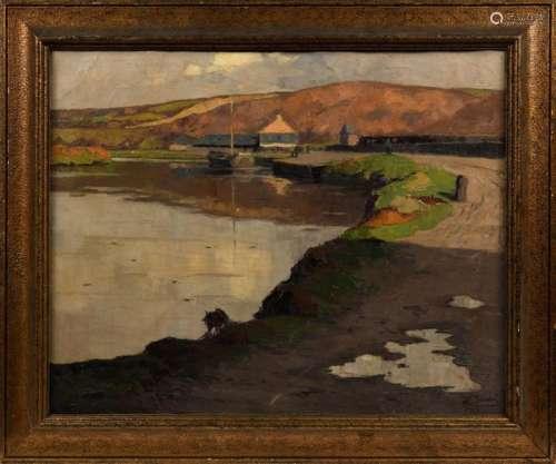 Jean Baptiste SCORIEL (1883 1956). Soleil d'Hiver,…