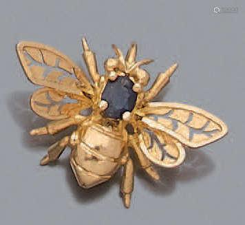 PENDENTIF Or 750 millièmes, figurant une abeille, …