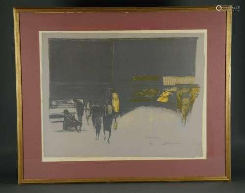 Harold Altman. Lithograph. Market III. 20th c.