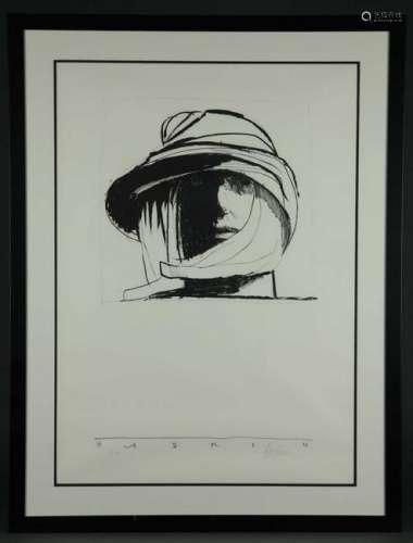 Leonard Baskin. Lithograph. Safari. ca. 1972.
