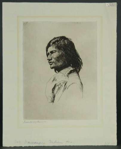 Frank Weston Benson. Nascaupee Indian. 1921.