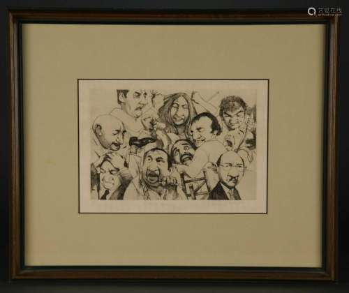 Charles Bragg. Group of 5 Framed Etchings. 20th c.