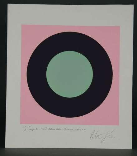 Peter Gee. Serigraph. Target. ca. 1960's.
