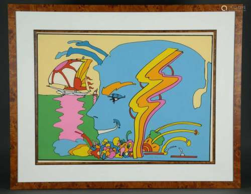 Peter Max. Serigraph. Mystic Sailing. 1972.