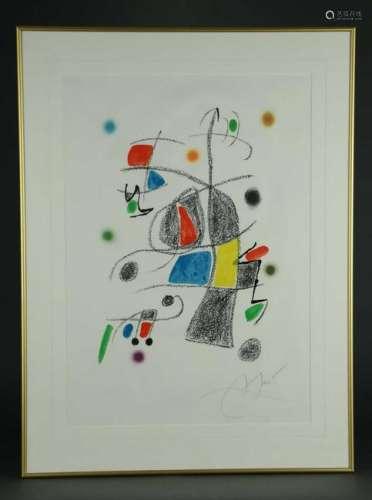 Joan Miro. Maravillas con Variaciones. Plate 19.