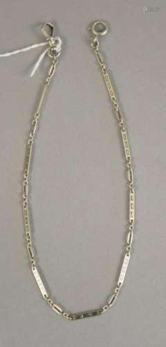 14K white gold watch chain, 10.5 grams.